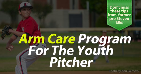 Arm care program for the youth pitcher banner