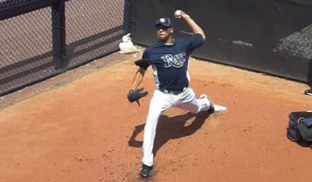 Pitching mechanics stride foot contact image
