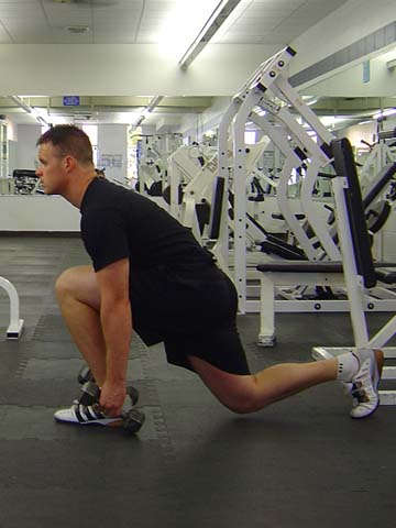 Lunge exercise for pitchers image