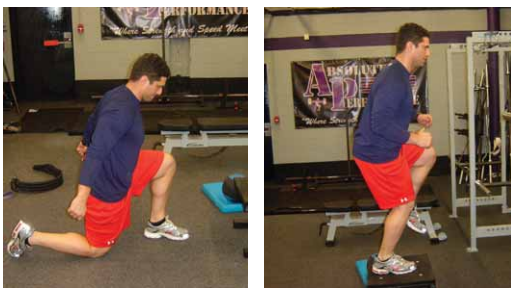 Plyometric lunge ground hop exercise for pitchers image