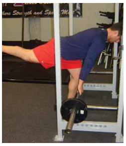 Single leg dead lift exercise for pitchers image