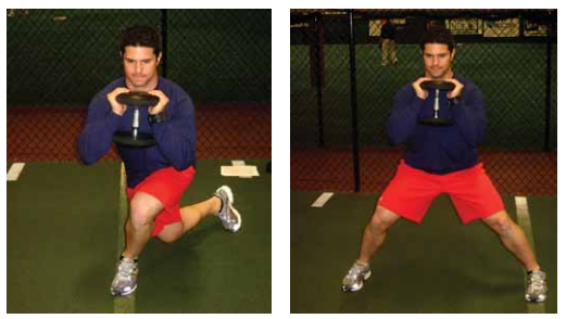 Front drop back lunge exercise for pitchers image