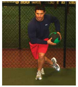 Medicine ball lateral swing hop exercise for pitchers image
