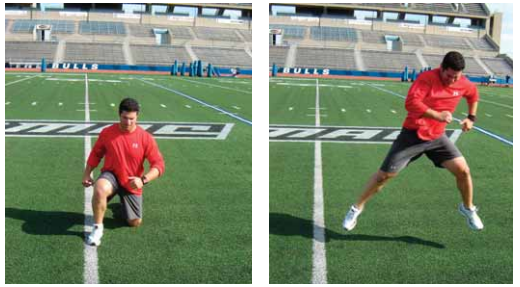 Lateral ground hop exercise for pitchers image
