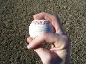 Pitching grip change up across seams image