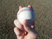 Pitching grip four seam fastball