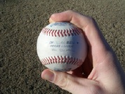 Pitching grip four seam fastball image