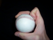Pitching grip knuckle curveball image
