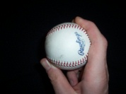 Pitching grip two seam fastball with the seams image