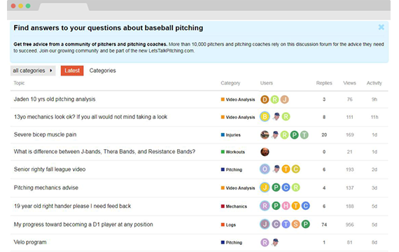 Pitching discussion forum
