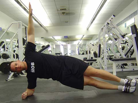 Side planks exercise for pitchers image