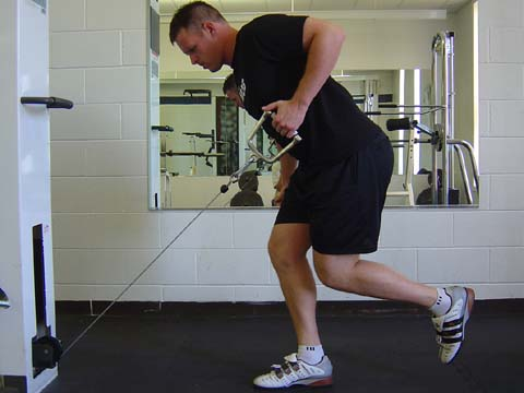 Single leg cable row exercise for pitchers image