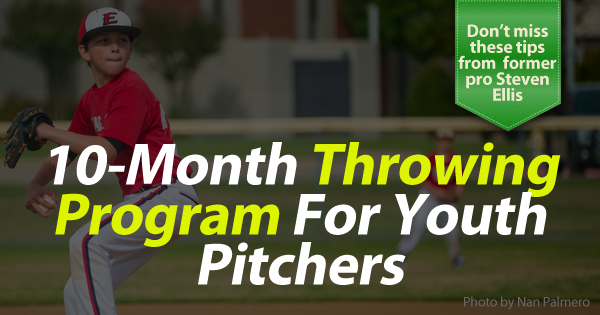 Weekly throwing program for youth pitchers banner