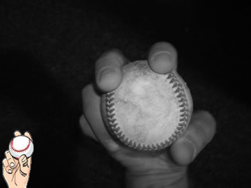 Two-seam fastball grip image